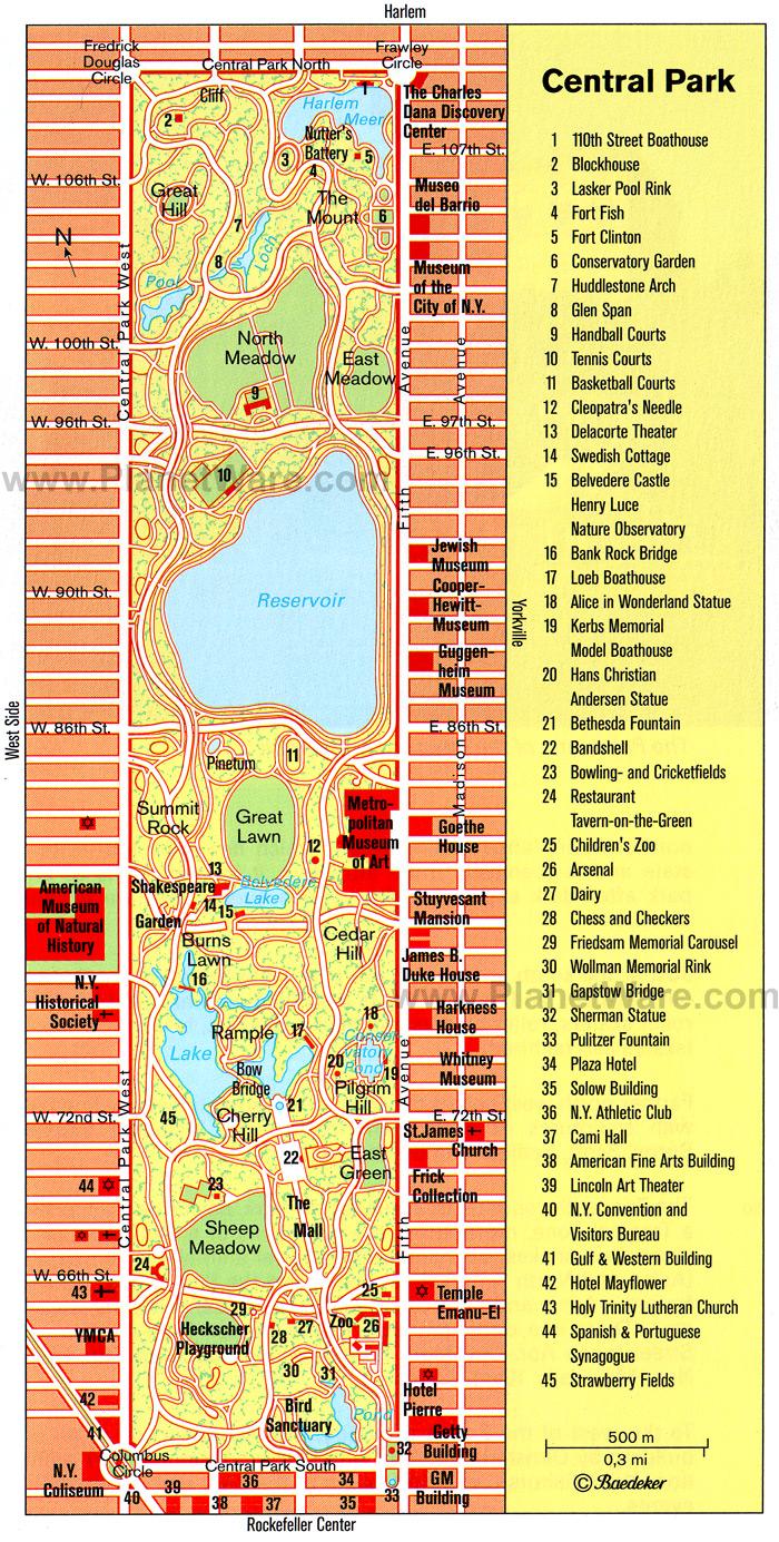 New York Ultra Running Central Park Bike Map on